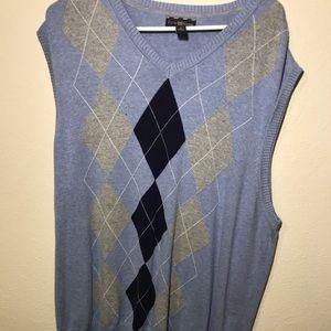 Club Room MeSweater Vest Blue Sz XLarge Sleeveless